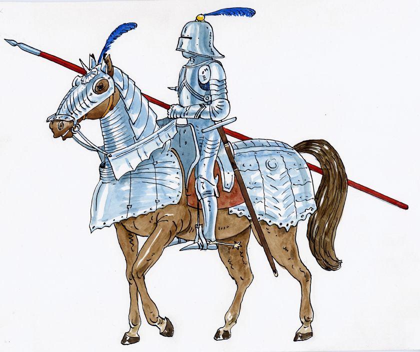 illustrazioni - cavaliere medievale