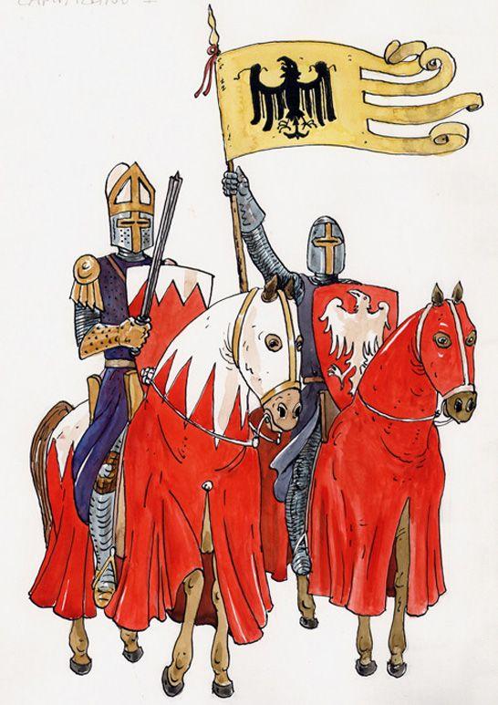 illustrazioni - cavalieri medievali