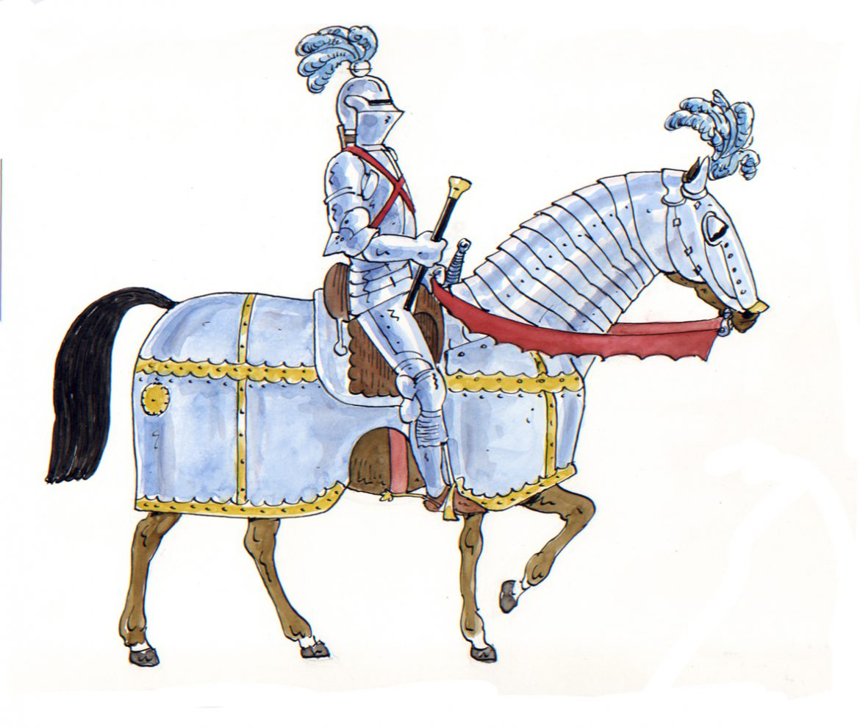 illustrazioni - cavaliere medievale borgogna