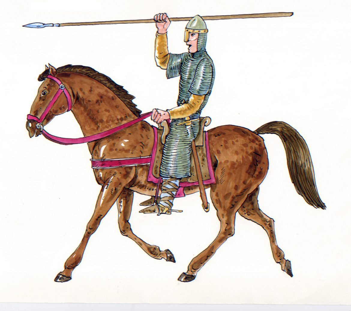 illustrazioni - cavaliere normanno hastings 1066