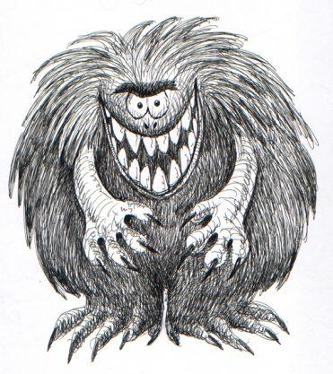 illustrazioni - mostro peloso