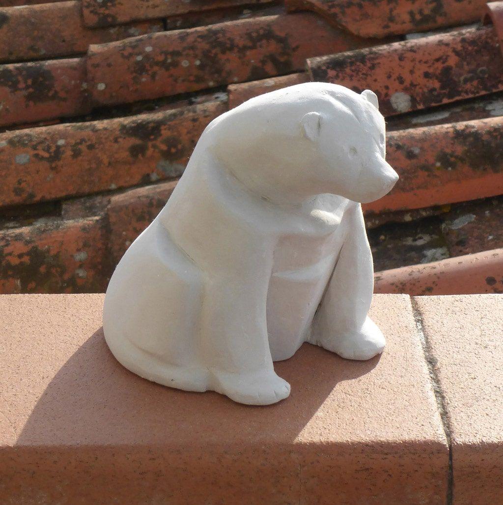ceramiche - orso sul tetto