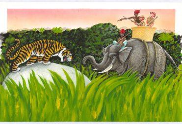 illustrazioni - caccia alla tigre