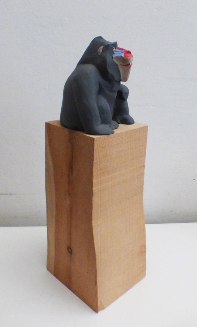 sculture - mandrillo con base