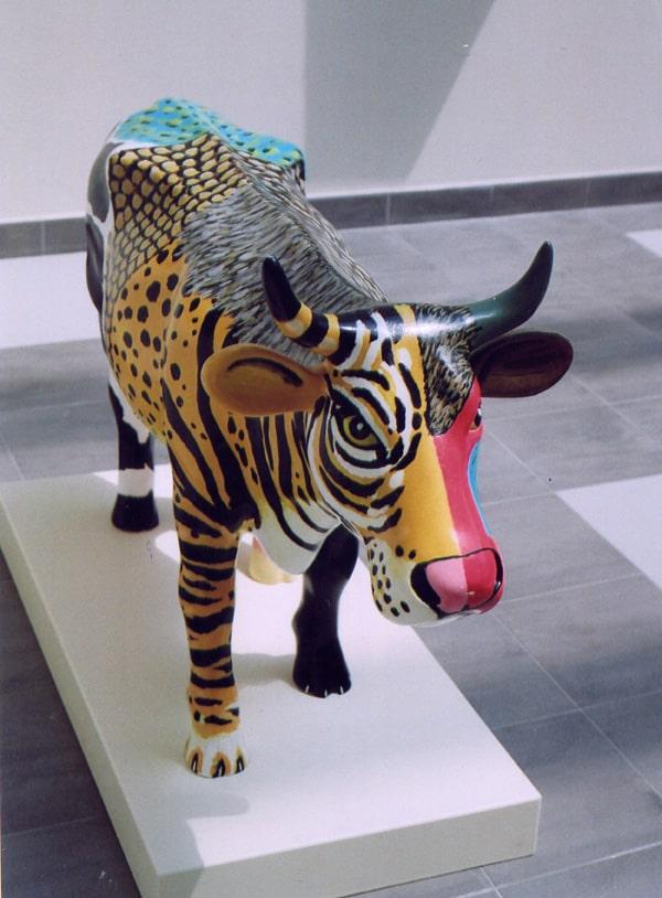 animali dipinti -bue mischiato