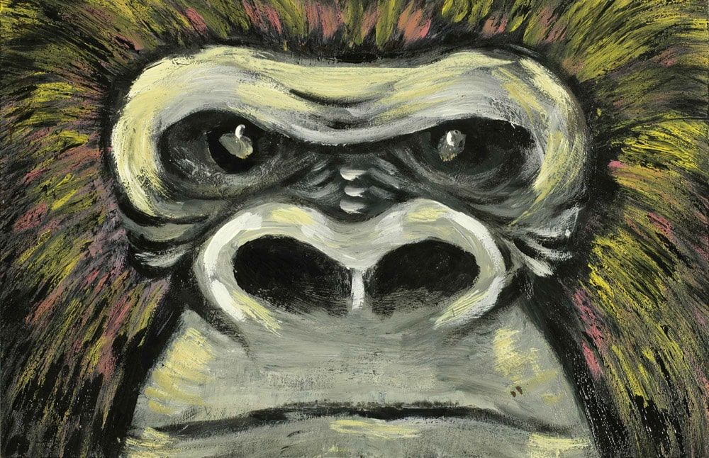 pitture - gorilla occhi