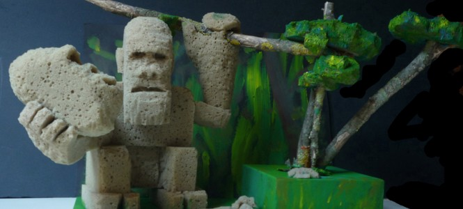 sculture - hamlet in the jungle