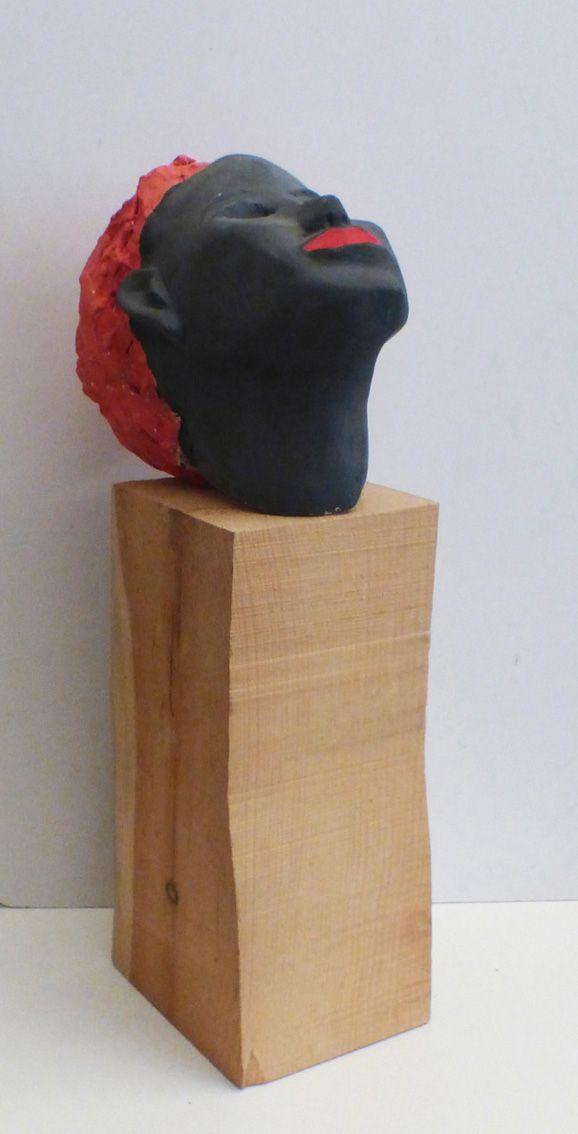 sculture - testa nera e rossa