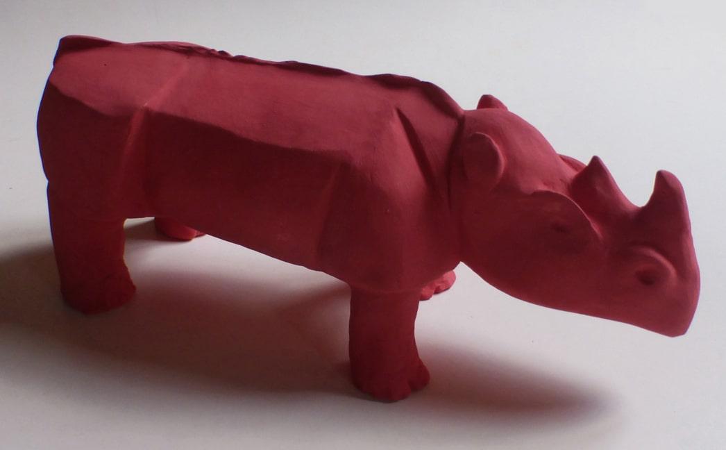 ceramiche - rinoceronte rosso