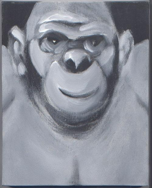 pitture - scimmia uomo