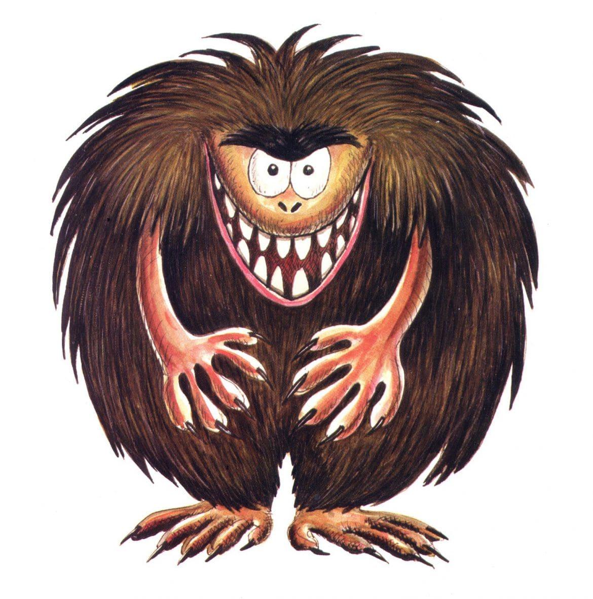 illustrations - hairy monster