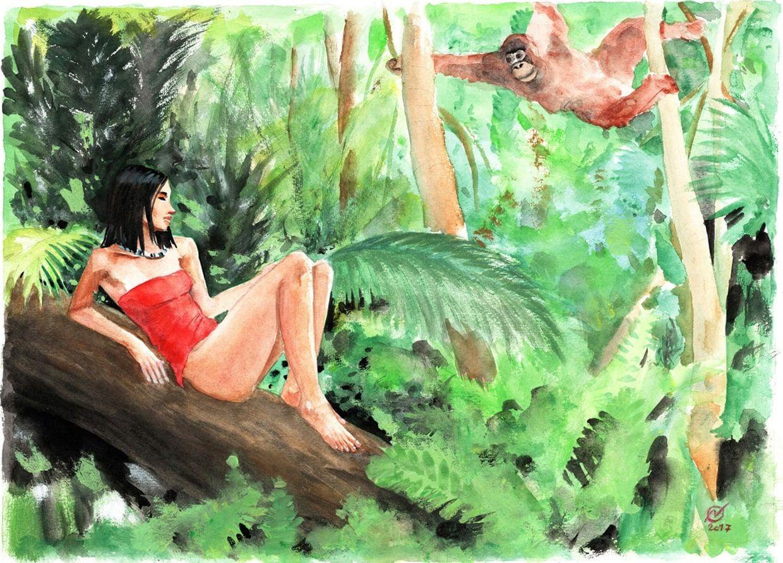watercolors - borneo