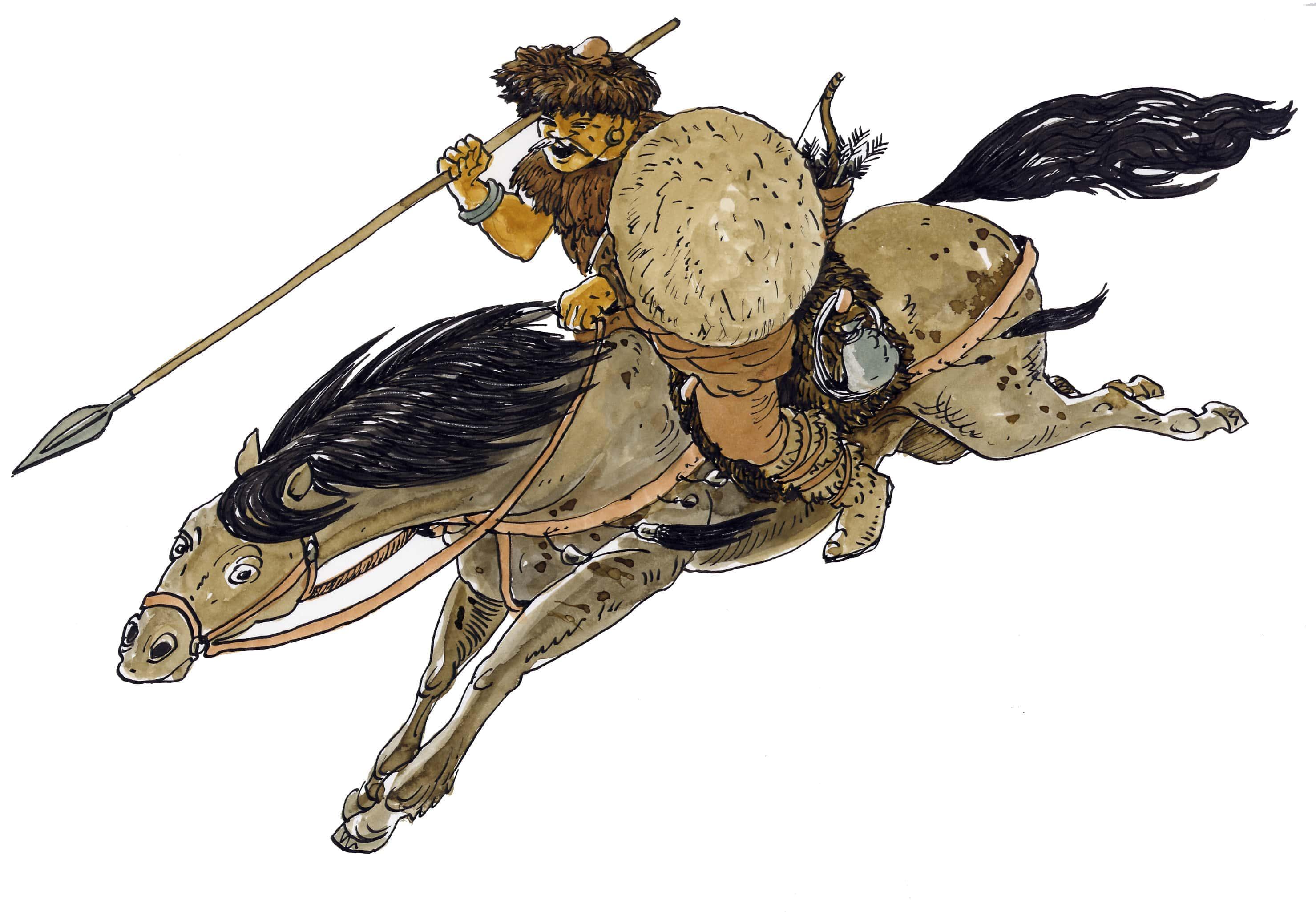 illustrazioni - cavaliere unno
